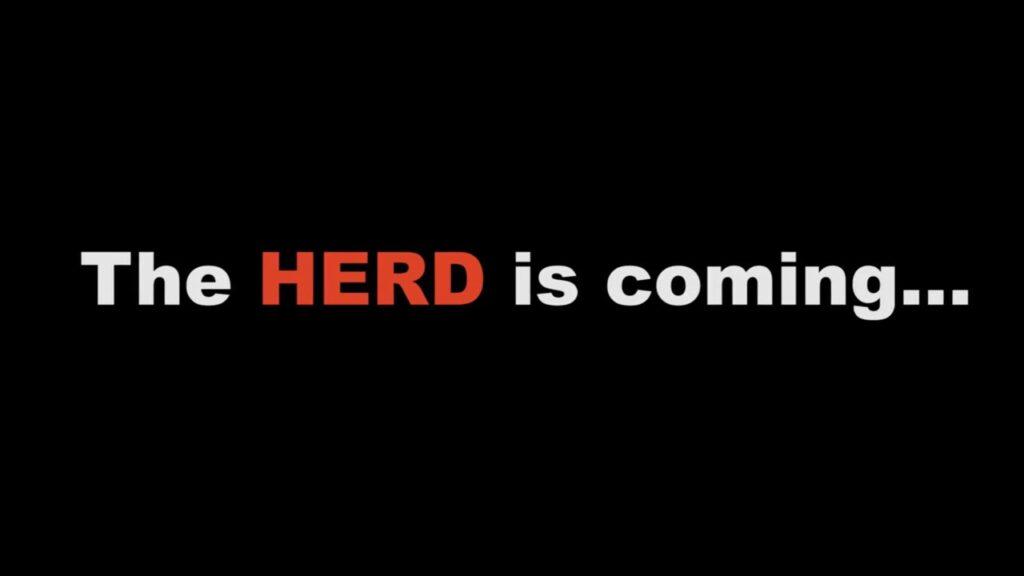 Obrázek s nápisem the herd is coming. Korporáty začínají hromadit bitcoin, Ridge Group Holdings jsou nejnovějším přírůstkem.